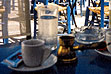 Greek coffee in a bronze briki